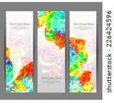 abstract bright banners vector | Shutterstock .eps vector #226424596