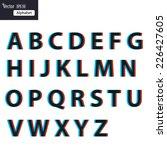 vector alphabet set | Shutterstock .eps vector #226427605