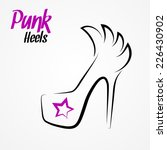 hand drawn sketchy logo with... | Shutterstock .eps vector #226430902