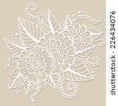flower vector ornament. | Shutterstock .eps vector #226434076