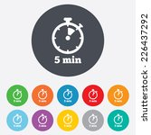 timer sign icon. 5 minutes... | Shutterstock .eps vector #226437292