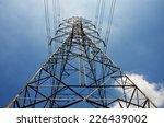 electricity high voltage pole...