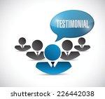 avatar testimonial illustration ... | Shutterstock .eps vector #226442038