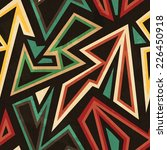 tribal geometric seamless... | Shutterstock . vector #226450918