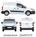vector service car. white blank ... | Shutterstock .eps vector #226457272
