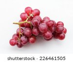 fresh red grapes and water... | Shutterstock . vector #226461505