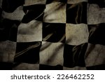 Grungy Checkered Black And...