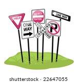 Street Sign Cluster