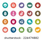 fruit and vegetable color icons | Shutterstock .eps vector #226474882