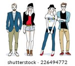 sketches of people | Shutterstock .eps vector #226494772