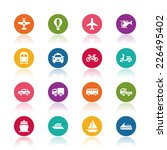 transportation icons | Shutterstock .eps vector #226495402