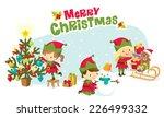 santa's elves | Shutterstock .eps vector #226499332