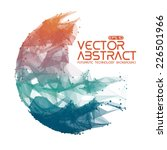 abstract vector mesh sphere... | Shutterstock .eps vector #226501966