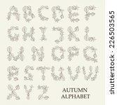 vector alphabet with decorative ... | Shutterstock .eps vector #226503565