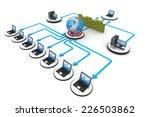 computer network and internet... | Shutterstock . vector #226503862