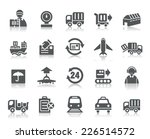 logistics and transport icons | Shutterstock .eps vector #226514572