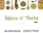 spices and herbs on white... | Shutterstock . vector #226517452