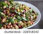 five bean salad | Shutterstock . vector #226518142