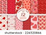 big set of seamless valentine's ...