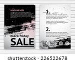 black friday sale a4 size... | Shutterstock .eps vector #226522678