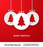 christmas paper card with... | Shutterstock .eps vector #226524532