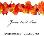 card with horizontal line of... | Shutterstock . vector #226532755