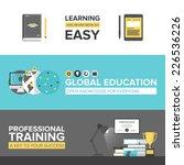 flat banner set of global... | Shutterstock .eps vector #226536226