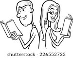 black and white cartoon vector... | Shutterstock .eps vector #226552732