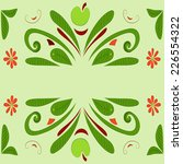 green ornament pattern with... | Shutterstock .eps vector #226554322