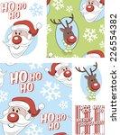 christmas vector seamless... | Shutterstock .eps vector #226554382