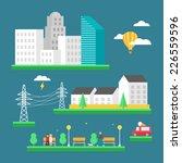 urban landscape  business... | Shutterstock .eps vector #226559596