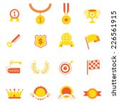 icons set   success  award... | Shutterstock .eps vector #226561915