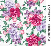 seamless exotic pattern with... | Shutterstock .eps vector #226561975