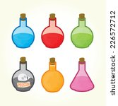 glass bulbs with liquids... | Shutterstock .eps vector #226572712
