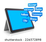 social media and tablet 3d... | Shutterstock . vector #226572898