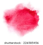 Red Watercolour Or Ink Stain...