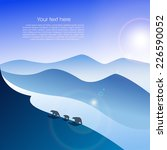 arctic landscape with three...   Shutterstock .eps vector #226590052