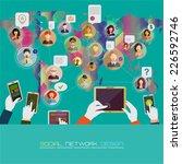 social network concept. flat ... | Shutterstock . vector #226592746