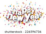 happy new year paper sign over... | Shutterstock .eps vector #226596736