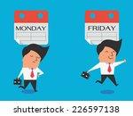cute character of businessman... | Shutterstock .eps vector #226597138
