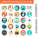 abstract vector set of colorful ... | Shutterstock .eps vector #226598992