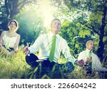 business people yoga relaxation ... | Shutterstock . vector #226604242