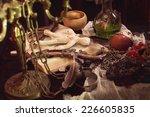 voodoo gypsy putting needles in ... | Shutterstock . vector #226605835