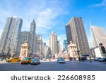 City of Chicago downtown USA - stock photo