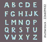 alphabet made from abstract... | Shutterstock .eps vector #226609432
