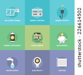 flat icons set of smart house... | Shutterstock .eps vector #226614502