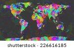 Colorful World Map Brushes...