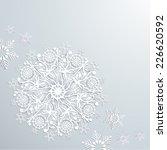 vector origami snowflake... | Shutterstock .eps vector #226620592
