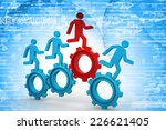 3d people   man  person running ... | Shutterstock . vector #226621405