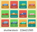 icon set car body styles made... | Shutterstock .eps vector #226621585